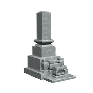 和型石碑の見本。伝統的な墓石。