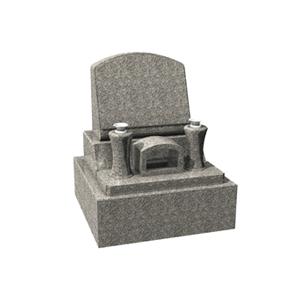 洋型石碑の見本。モダンな雰囲気と絵も彫刻できる人気の墓石